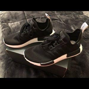 Ladies Black Adidas NMD_R1, size 8